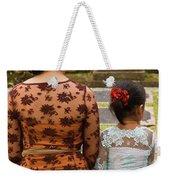 Mother And Daughter Weekender Tote Bag