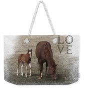 Mother And Son Love Weekender Tote Bag