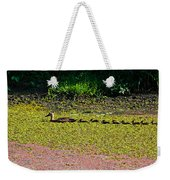 Mother Duck And Baby Ducks Weekender Tote Bag