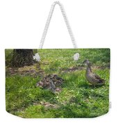Mother Duck With Nest Weekender Tote Bag