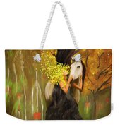 Mother Nature And Her White Horse Weekender Tote Bag