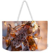 Mother Nature's Christmas Decorations - Golden Oak Leaves Jewels Weekender Tote Bag