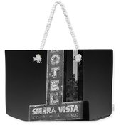 Mother Road Motel Black And White Weekender Tote Bag