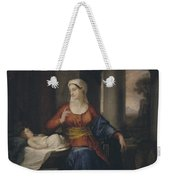 Mother Watching Her Child Weekender Tote Bag