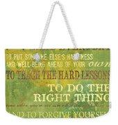 Motherhood Weekender Tote Bag by Debbie DeWitt