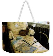 Mother's Chintz Chaise In The Corner Weekender Tote Bag by RC deWinter
