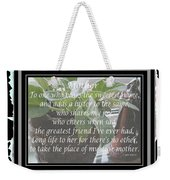 Mother's Day Greeting And Angel Weekender Tote Bag