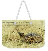 Motivating A Turtle Weekender Tote Bag by Robert Frederick