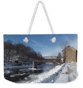 Motor Mill In Winter Weekender Tote Bag