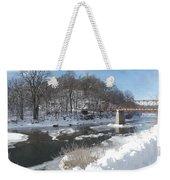 Motor Mill Winter Pano Weekender Tote Bag