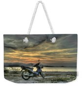 Motorbike At Sunset Weekender Tote Bag