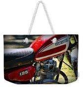 Motorcycle - 1974 Honda Cl 125 Scrambler Weekender Tote Bag