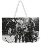 Motorcycle And Velocipede - 1921 Weekender Tote Bag