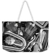 Motorcycle Close-up Bw 1 Weekender Tote Bag
