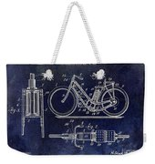 1903 Motorcycle Patent Blue Weekender Tote Bag