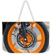 Motorcycle Wheel Weekender Tote Bag