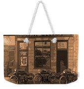 Motorcycles And Furnished Rooms Weekender Tote Bag