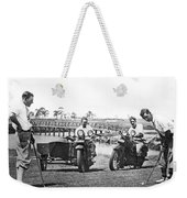 Motorcycles Set Golf Record Weekender Tote Bag