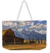 Moulton Barn Panorama - Grand Teton National Park Wyoming Weekender Tote Bag