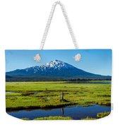 Mount Bachelor And Meadow Weekender Tote Bag