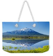Mount Bachelor Reflection Weekender Tote Bag