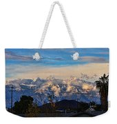 Mount Baldy On A New Years Eve Weekender Tote Bag