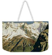 Mount Blanc Mountains Weekender Tote Bag