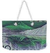 Mount Fuji In Green Weekender Tote Bag