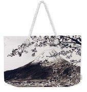 Mount Fuji Spring Blossoms Weekender Tote Bag