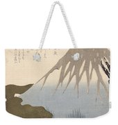 Mount Fuji Under The Snow Weekender Tote Bag by Toyota Hokkei
