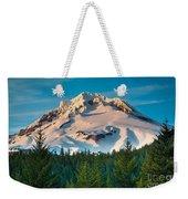 Mount Hood Winter Weekender Tote Bag