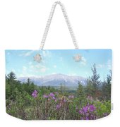 Mount Katahdin And Wild Flowers Weekender Tote Bag