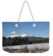 Mount Katahdin Winter 3 Weekender Tote Bag