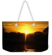 Mount Lassen Sunrise Gold Weekender Tote Bag
