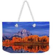 Mount Moran And Fall Color Grand Tetons Weekender Tote Bag