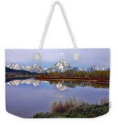 Mount Moran And Jackson Lake Weekender Tote Bag