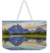 Mount Moran At Sunrise Weekender Tote Bag