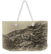 Mount Of The Temptation Monestary Jericho Israel Antiqued Weekender Tote Bag