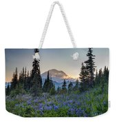 Mount Rainer Flower Fields Weekender Tote Bag