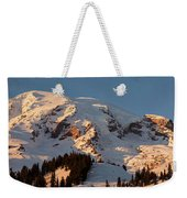 Mount Rainier Alpenglow Weekender Tote Bag