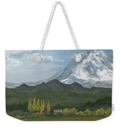 Mount Rainier From Lake Rap John  Weekender Tote Bag