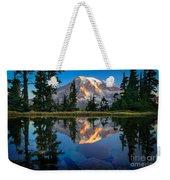 Mount Rainier From Tatoosh Range Weekender Tote Bag by Inge Johnsson