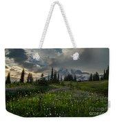 Mount Rainier Meadows Storm Brewing Weekender Tote Bag