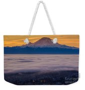 Mount Rainier Sunrise Mood Weekender Tote Bag