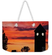 8.15 On The Mount Royal Clock Tower Baltimore Weekender Tote Bag