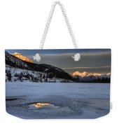Mount Rundle And Vermillion Lakes Weekender Tote Bag