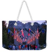 Mount Rushmore At Night Weekender Tote Bag