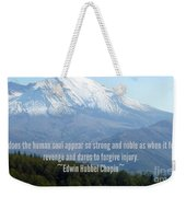 Mount Saint Helen's Text Weekender Tote Bag