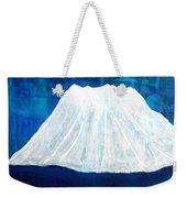 Mount Shasta Original Painting Weekender Tote Bag