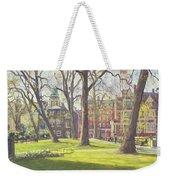 Mount Street Gardens, London Oil On Canvas Weekender Tote Bag